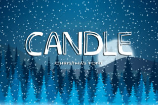 Print on Demand: Candle Display Font By dmytroyarish