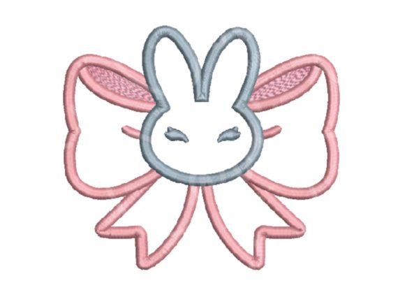 Cara's Embor Bunny Bow Baby Animals Embroidery Design By carasembor