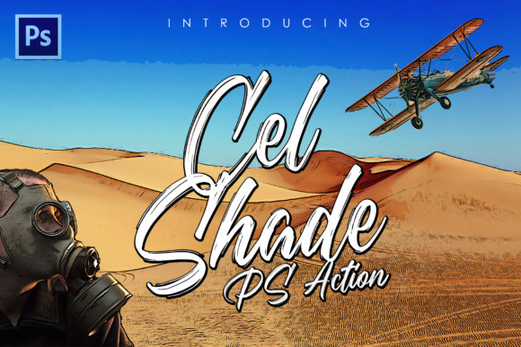 Print on Demand: Cel-Shading Photoshop Action Graphic Actions & Presets By denestudios