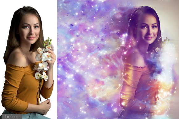 Print on Demand: Celestial Photoshop Action Graphic Actions & Presets By MS-Creation