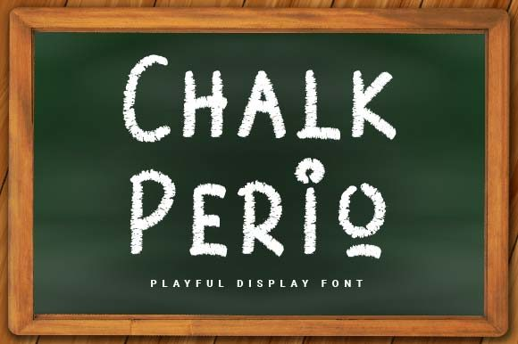 Print on Demand: Chalk Perio Display Font By Prioritype