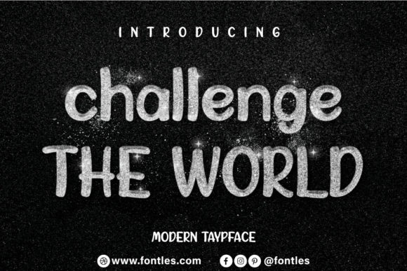 Print on Demand: Challenge the World Display Font By Crafty Files