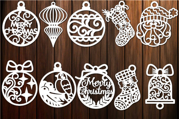 Print on Demand: Christmas Decorations Ornaments Baubles Graphic Crafts By yulnniya