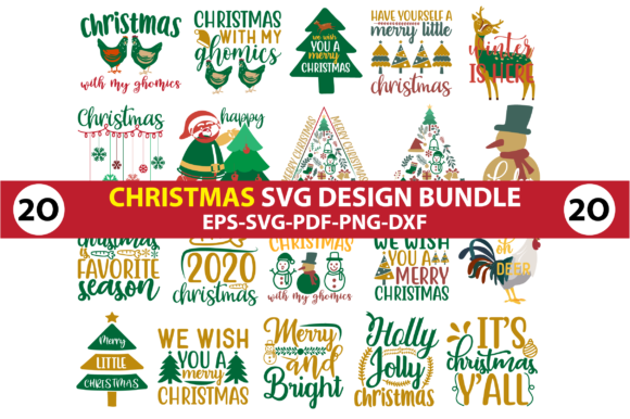 Christmas Design Bundle. Graphic Crafts By Jabrin Super Store