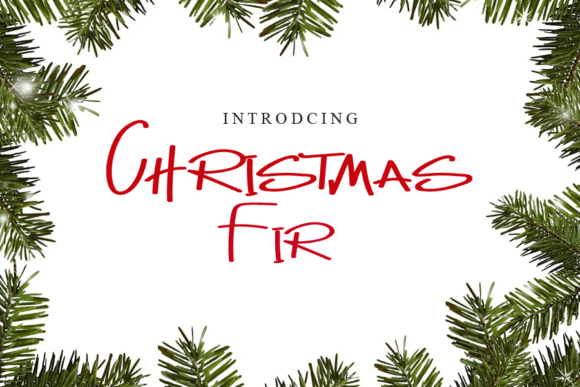 Print on Demand: Christmas Fir Script & Handwritten Font By gunawanletter