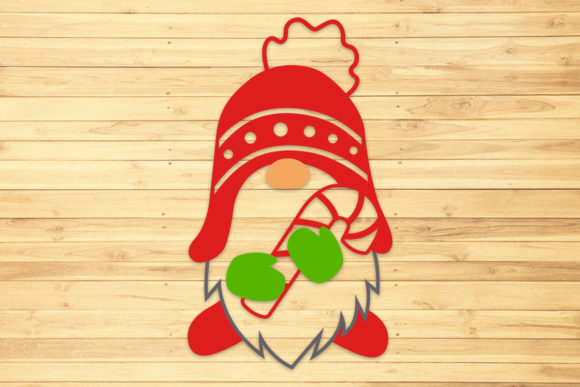 Christmas Gnome 2, Svg, Png, Dxf, Eps. Graphic Crafts By LightBoxGoodMan