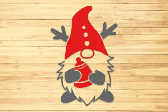 Christmas Gnome 3, Svg, Png, Dxf, Eps. Graphic Crafts By LightBoxGoodMan