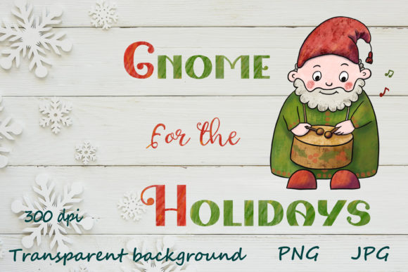 Print on Demand: Christmas Gnome for the Holidays Graphic Illustrations By Citrum Nobile