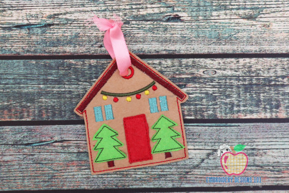Christmas Home with Tree ITH Ornament House & Home Quotes Embroidery Design By embroiderydesigns101