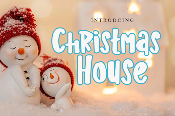 Print on Demand: Christmas House Display Font By gunawanletter