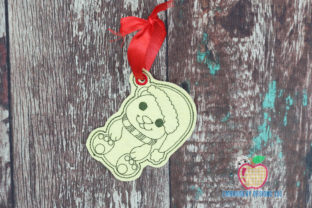 Christmas Polar Bear Wearing a Santa Hat Christmas Embroidery Design By embroiderydesigns101