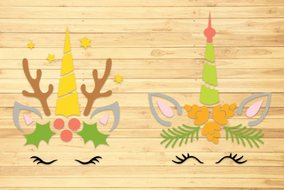 Christmas Unicorn 2, Svg, Png, Dxf, Eps. Graphic Crafts By LightBoxGoodMan