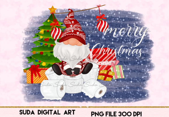 Print on Demand: Christmas Cute Bleach Design Sublimation Graphic Illustrations By Suda Digital Art