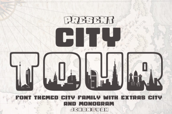 Print on Demand: City Tour Decorative Font By jehansyah251