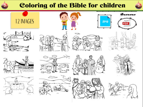 Print on Demand: Coloring of the Bible for Children VOL2 Graphic Coloring Pages & Books Kids By kdp Edition