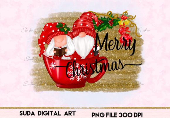 Print on Demand: Cute Christmas Bleach Sublimation Graphic Illustrations By Suda Digital Art