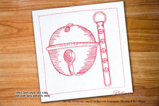 Dexter Bells Lineart Backgrounds Embroidery Design By Redwork101