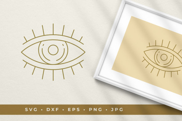 Eye Logo Line Art Graphic Style Vector Graphic Illustrations By vasyako1984