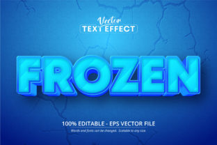 Print on Demand: Frozen Text, Cartoon Style Text Effect Graphic Layer Styles By Mustafa Bekşen