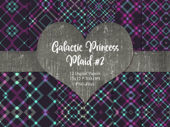 Print on Demand: Galactic Princess Plaid 2 Graphic Patterns By Whiskey Black Designs