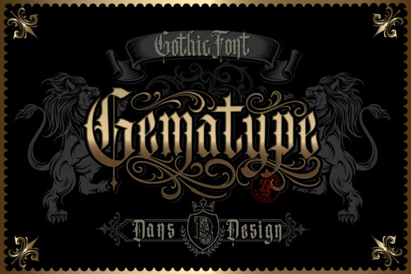 Print on Demand: Gematype Blackletter Font By Dansdesign