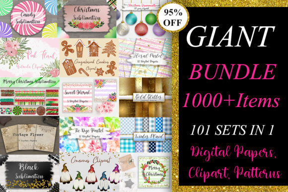Giant Graphics Bundle  By PinkPearly