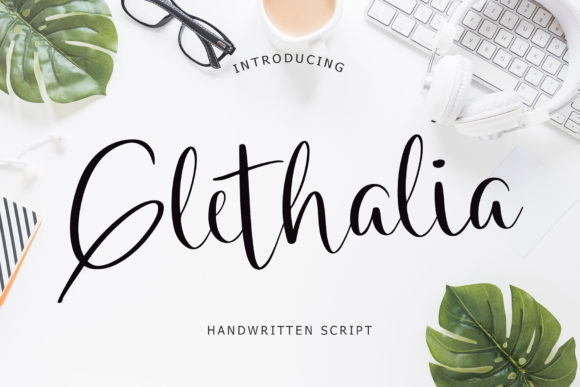 Print on Demand: Glethalia Script & Handwritten Font By formatikastd
