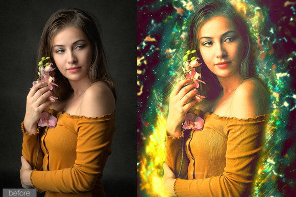 Print on Demand: Glitter Photoshop Action Graphic Actions & Presets By MS-Creation