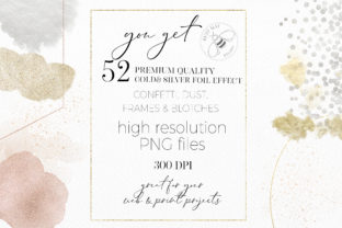 Print on Demand: Gold Rose Gold Dust Confetti PNG Frames Graphic Illustrations By Busy May Studio 5