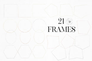 Print on Demand: Gold Rose Gold Dust Confetti PNG Frames Graphic Illustrations By Busy May Studio 7