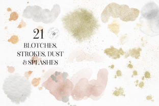Print on Demand: Gold Rose Gold Dust Confetti PNG Frames Graphic Illustrations By Busy May Studio 8