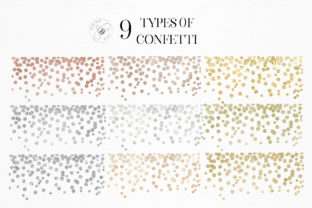 Print on Demand: Gold Rose Gold Dust Confetti PNG Frames Graphic Illustrations By Busy May Studio 9