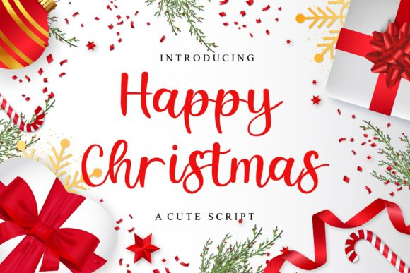Print on Demand: Happy Christmas Display Font By Authentic Studio