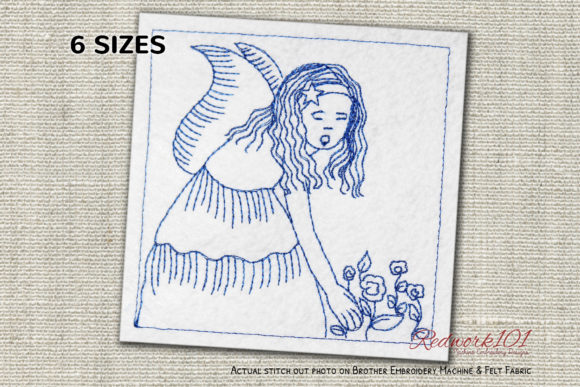 Healing Angels Religion & Faith Embroidery Design By Redwork101