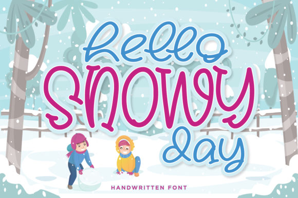 Print on Demand: Hello Snowy Day Display Font By alpapranastudio