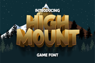 Print on Demand: High Mount Display Font By twinletter