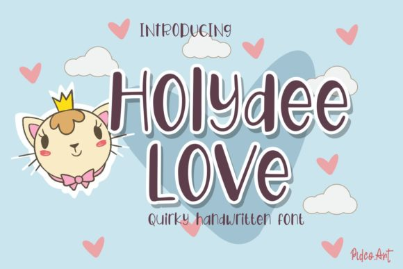Print on Demand: Holydee Love Display Font By Pidco.art
