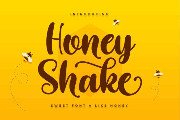 Print on Demand: Honey Shake Script & Handwritten Font By ToniStudio