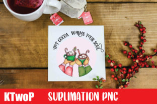 Print on Demand: Hot Cocoa Warms Your Soul Sublimation Graphic Illustrations By KtwoP