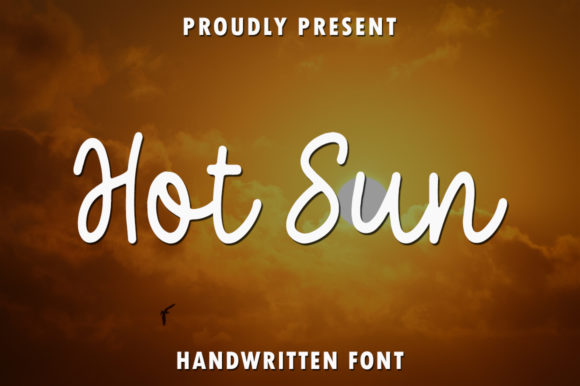 Print on Demand: Hot Sun Script & Handwritten Font By rangkaiaksara