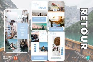 Instagram Story Template - ReTour Graphic Presentation Templates By 57creative