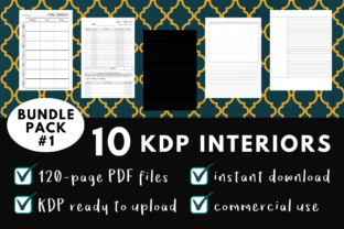 Print on Demand: KDP Interior Pack 1 - 10 Templates Graphic KDP Interiors By Dragonflow Designs