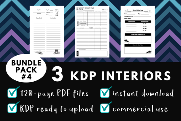 Print on Demand: KDP Interior Pack #4 - 3 Templates! Graphic KDP Interiors By mothmos