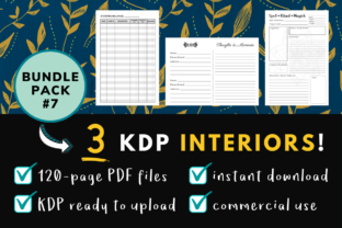 Print on Demand: KDP Interior Pack #7 - 3 Templates! Graphic KDP Interiors By Dragonflow Designs