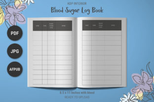 Print on Demand: KDP Simple Blood Sugar Levels Log Book Graphic KDP Interiors By The Low Content Bookshelf