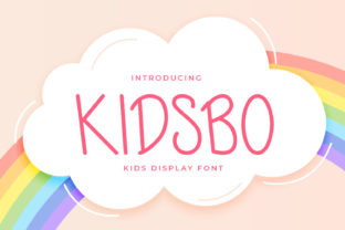 Print on Demand: Kidsbo Display Font By OKEVECTOR