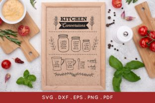 Kitchen Conversions and Measurements Graphic Crafts By peachycottoncandy