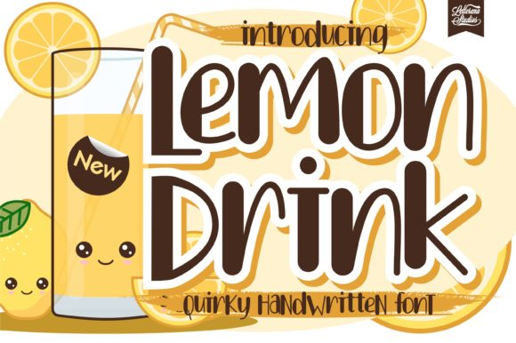 Print on Demand: Lemon Drink Display Font By letterenastudios
