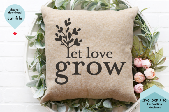 Print on Demand: Let Love Grow SVG, Wedding Svg, Couple S Graphic Crafts By Lettershapes