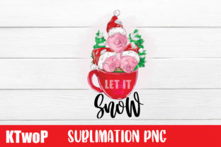 Print on Demand: Let It Snow,Merry Christmas, PNG, Graphic Illustrations By KtwoP